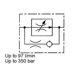 2-Way Flow Regulator, Pressure Compensated, Cartridge - SRE 1 to 4