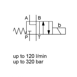 4 WE 10 JB - CETOP 5, 4/2 Directional Spool Valve, Direct Acting